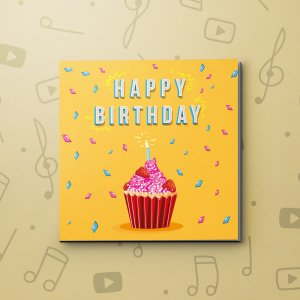 Happy Birthday Cupcake – Birthday Video Greeting Card