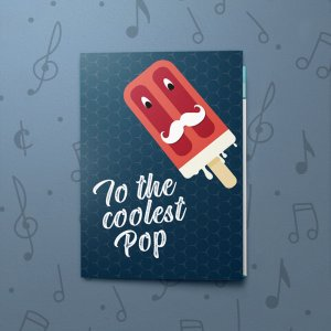 Coolest Pop – Musical Father's Day Card