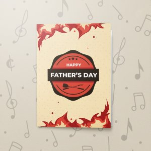 BBQ Father's Day – Musical Father's Day Card