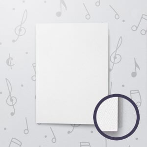 Blank Musical Greeting Card - 5 x 7 - Felt Paper