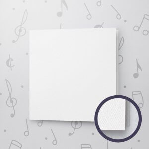 Blank Musical Greeting Card - 6 x 6 - Felt Paper