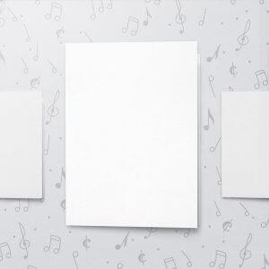 Blank Musical Greeting Card - 8 x 11 - Large Card
