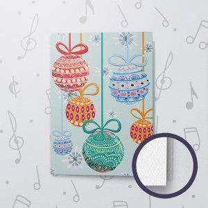 Christmas Ornaments – Musical Christmas Card - Felt Paper