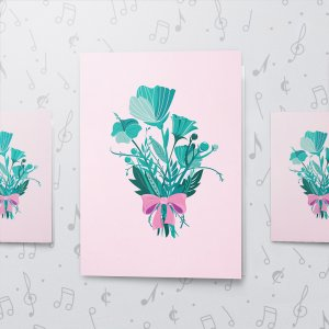 Thank You Pastel – Musical Thank You Card - Large