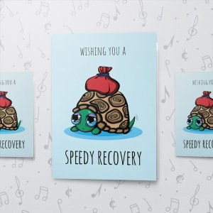 Speedy Recovery – Musical Get Well Card - Large