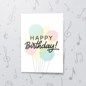 Birthday Balloon Bouquet – Musical Birthday Card
