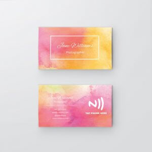 Watercolor - NFC Business Card