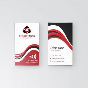 Wavy - NFC Business Card - Vertical
